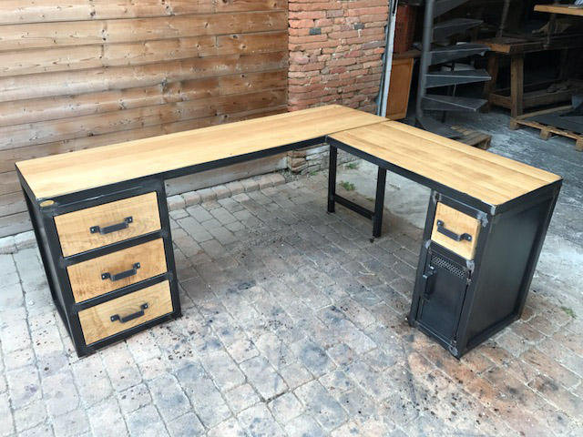Brocantetendance fabrication sur mesure mobilier for Bureau industriel