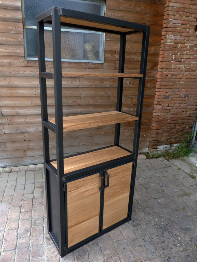 fabrication sur mesure mobilier industriel bois m tal. Black Bedroom Furniture Sets. Home Design Ideas